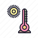 celsius, cloudy, cold, heat, medical, sun, temperature icon