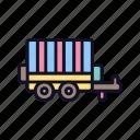 delivery, exerciser, trailer, trainer, transport, transportation, travel icon