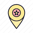 direction, map-pin, marker, navigation, pointer, print, printer icon