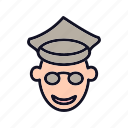 avatar, head, people, person, policeman, policeman-head, profile icon