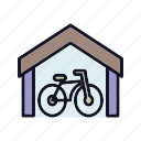 bicycle, bike, bike-storage, cycle, cycle-drive, storage, transport icon