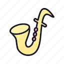 brass, bugle, melody, sax, saxophone, trumpet, tune icon