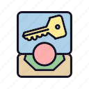 key, locked, protect, safe, safety, secrecy, secrecy-key icon