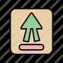 direction, left, navigation, shift, shift-up, up, upload icon
