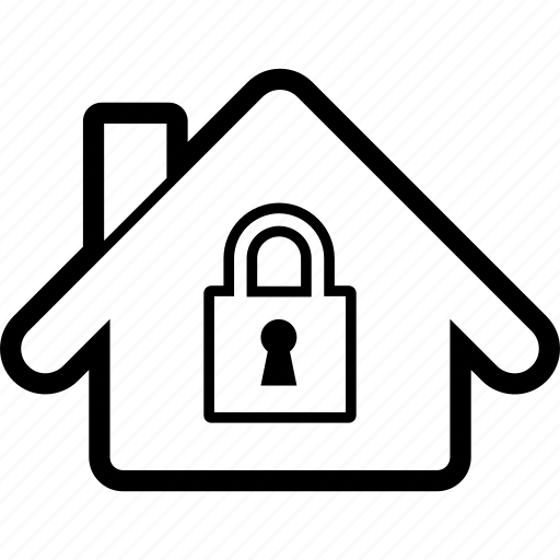 home, house, insurance, lock, property, security icon