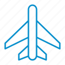 airplane, mode, on icon