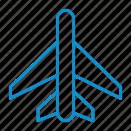 airplane, compressor, mode, on icon