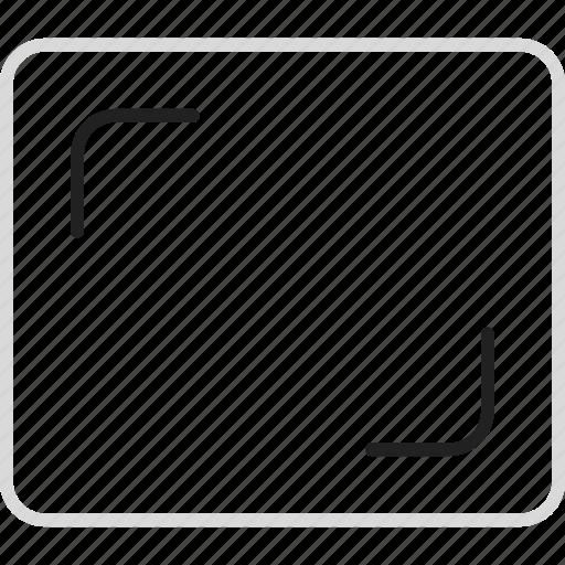 aspect, compressor, ratio icon