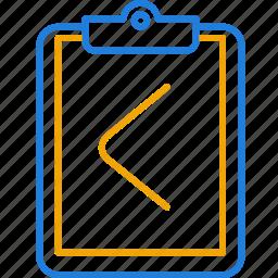 assignment, compressor, return icon