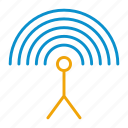 antenna, input, settings icon