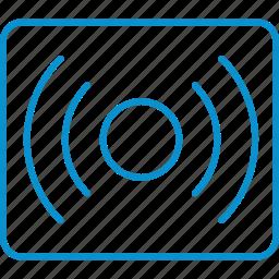 compressor, sound, surround icon