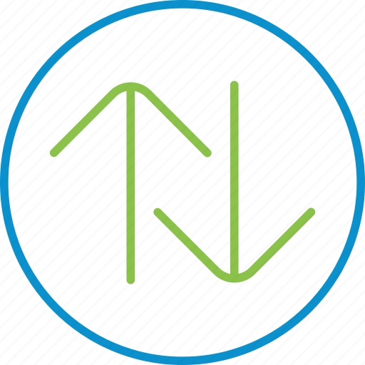 circle, compressor, swap, vert icon