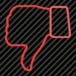 compressor, down, thumb icon