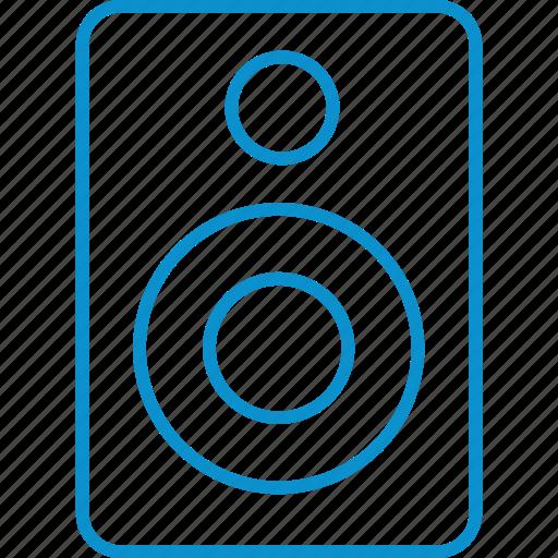compressor, speaker icon