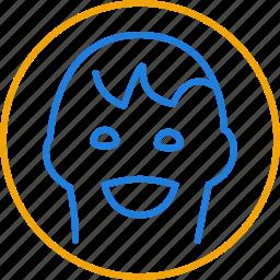 compressor, faces, tag icon