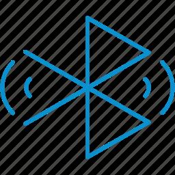 bluetooth, compressor, searching icon