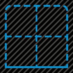 border, bottom, compressor icon