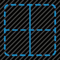 border, compressor, vertical icon
