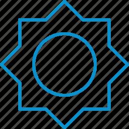 brightness, compressor icon