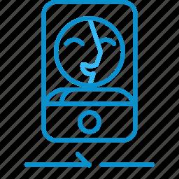 camera, compressor, front icon
