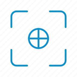 center, compressor, focus, strong icon