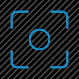 center, focus, weak icon