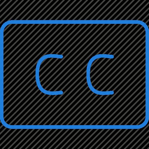 caption, closed, compressor icon