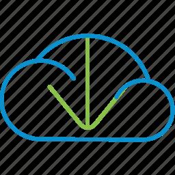 cloud, compressor, download icon