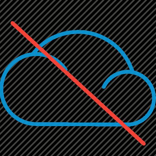 cloud, compressor, off icon