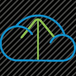 cloud, compressor, upload icon