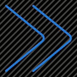 fast, forward icon