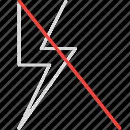 compressor, flash, off icon
