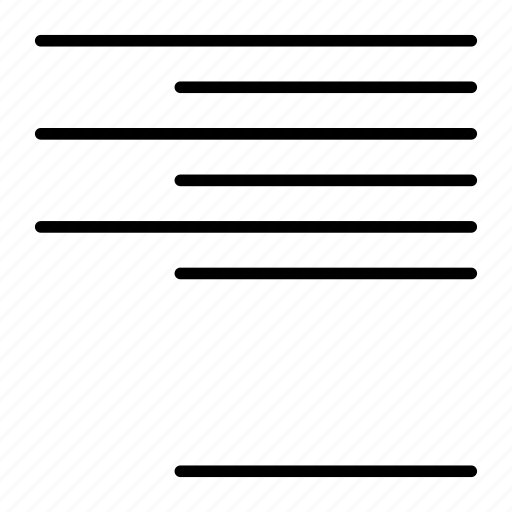 align, format, right icon