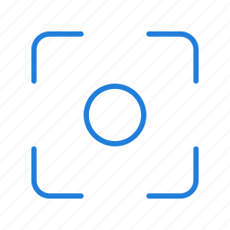center, compressor, filter, focus icon