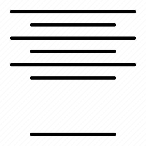 align, center, format icon