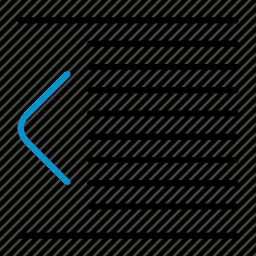 compressor, decrease, format, indent icon