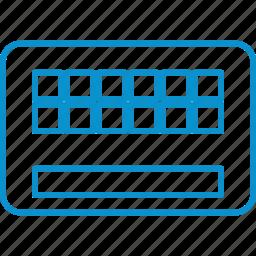 compressor, keyboard icon