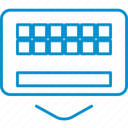 compressor, hide, keyboard icon