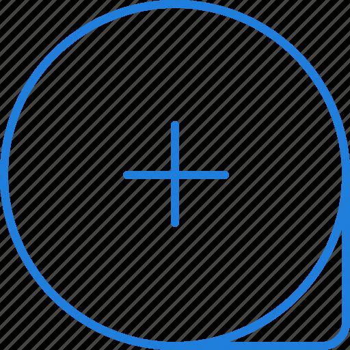 compressor, loupe icon