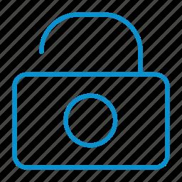 compressor, lock, open icon