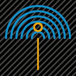 perm, scan, wifi icon