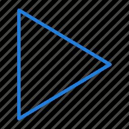 arrow, compressor, play icon