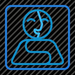 compressor, portrait icon