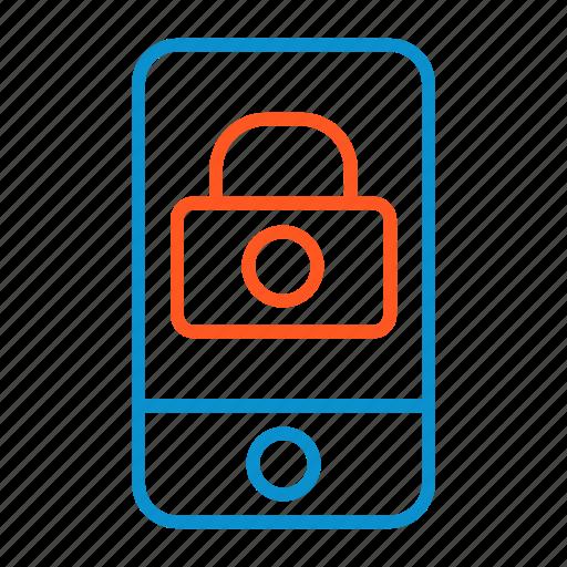 compressor, lock, portrait, screen icon
