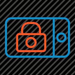 landscape, lock, screen icon