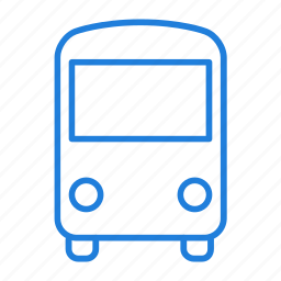 bus, directions icon