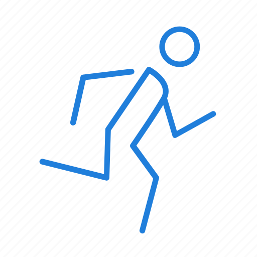 directions, run icon