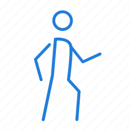 directions, walk icon