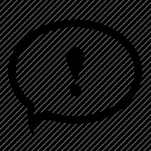 advice, alert, attention, bubble, caution, speech, warning icon