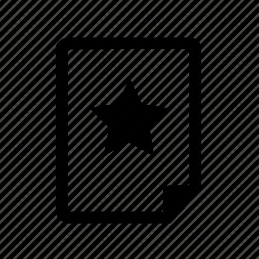 bookmark, create, document, favorite, file, star, template icon